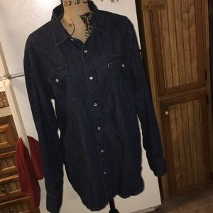 Levi's denim button down shirt size men's x-large